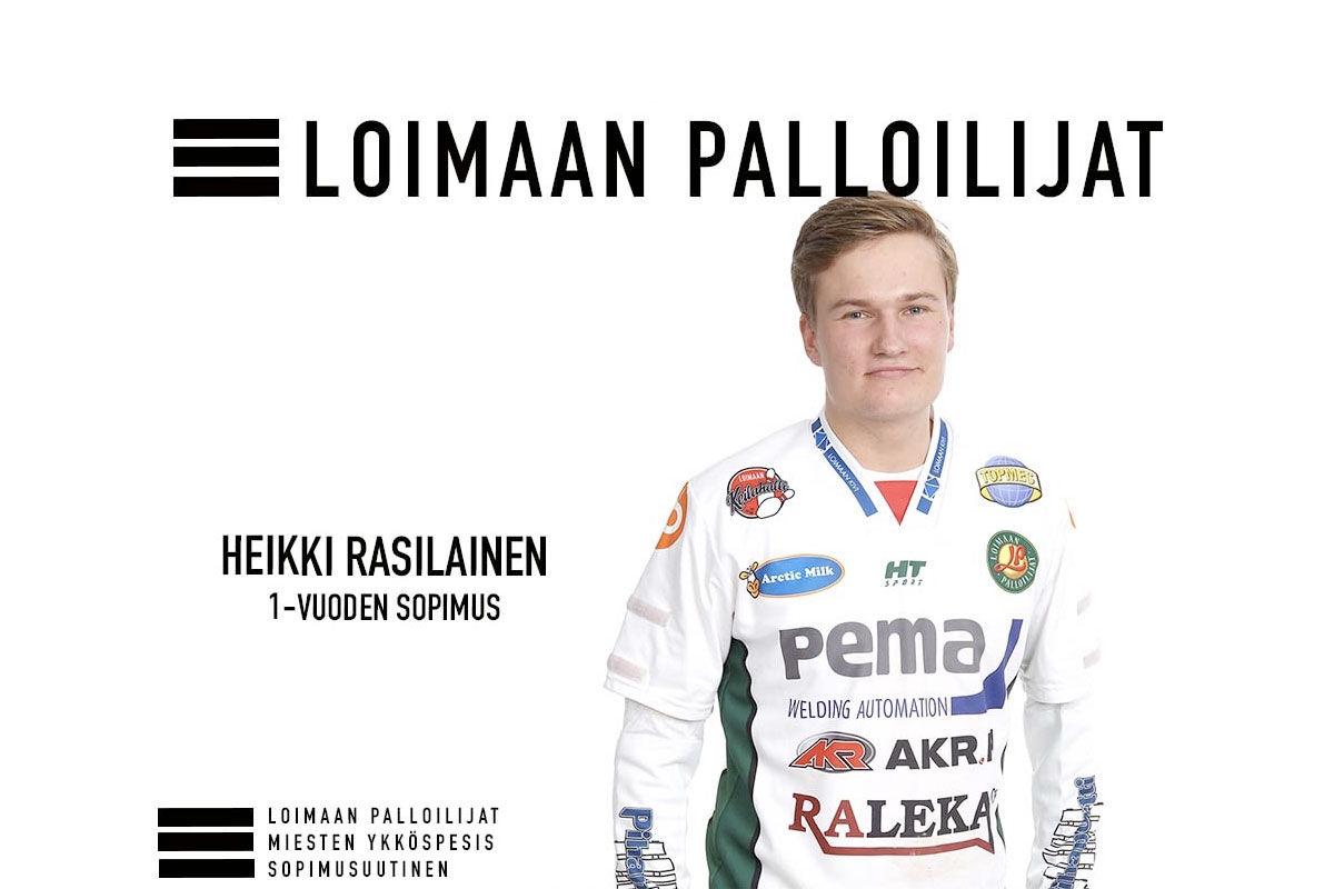 Palloilijoiden takakenttä täydentyy - Heikki Rasilainen Palloilijoiden paitaan