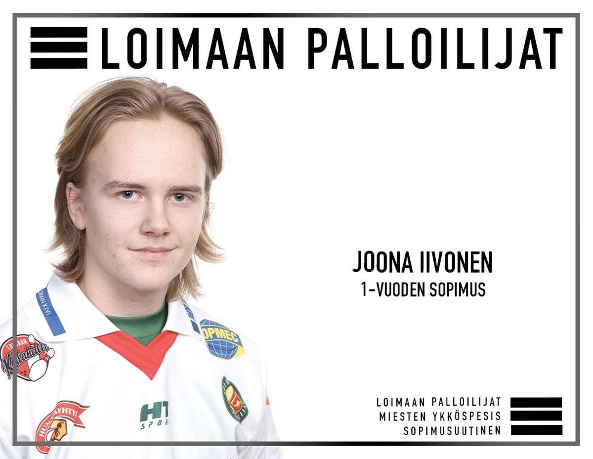Joona Iivonen, 19, palaa kasvattajaseuraansa vuoden mittaisella sopimuksella.